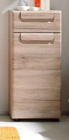 Badezimmer: Unterschrank Malea Eiche San Remo hell (37 x 82 cm)