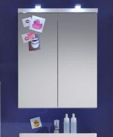 Badezimmer Spiegelschrank Nightlife weiß tiefgezogen 65 x 80 cm