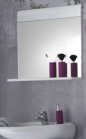 Wandspiegel Badmöbel Skin Hochglanz weiß